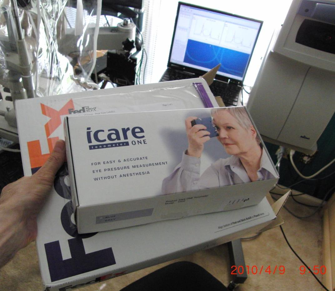 Icare ONE home eye pressure monitoring tonometer